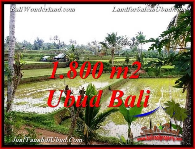 TANAH di UBUD BALI DIJUAL 1,800 m2  VIEW SAWAH LINK VILLA