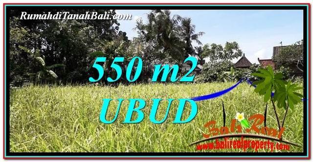 JUAL TANAH di UBUD 550 m2  View kebun link Villa