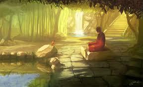 Guru meditating