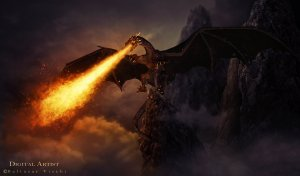 Most people tend to think of dragons as scary, fire-breathing monsters. [image credit: CC BY-ND 4.0 Baltasar Vischi via Flickr]