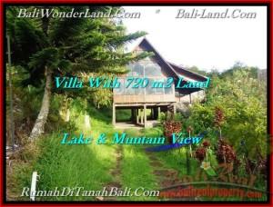 TANAH JUAL MURAH  TABANAN 720 m2  view danau beratan dan gunung