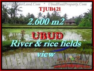 TANAH JUAL MURAH  UBUD BALI 2,600 m2  view sawah sungai dan tebing