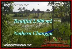 JUAL MURAH TANAH di CANGGU 1,000 m2  View laut dan sawah link villa