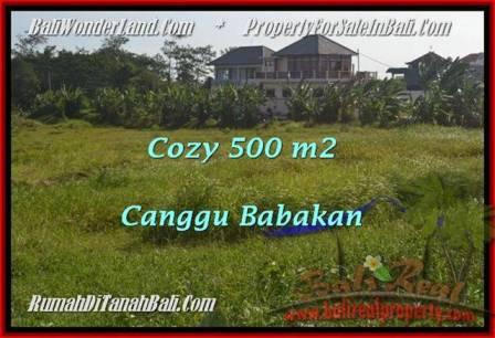 JUAL TANAH MURAH di CANGGU BALI 500 m2  View laut dan sawah link villa