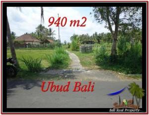 JUAL TANAH MURAH di UBUD 940 m2  View Sawah, link Villa