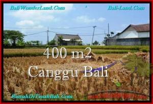 JUAL MURAH TANAH di CANGGU BALI 400 m2  View sawah, lingkungan villa