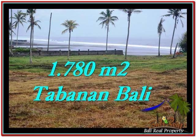 TANAH di TABANAN BALI DIJUAL MURAH 1,780 m2  View sawah, laut dan gunung
