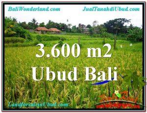 TANAH di UBUD DIJUAL 3,600 m2 di Sentral Ubud