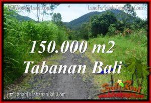 JUAL TANAH di TABANAN 150,000 m2  View gunung dan sawah