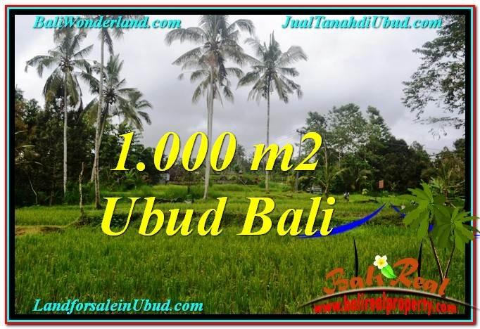 TANAH MURAH di UBUD BALI 1,000 m2  View  Sawah