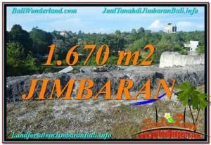 TANAH MURAH di JIMBARAN JUAL 1,670 m2  Lingkungan Villa