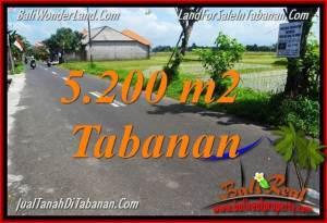 JUAL MURAH TANAH di TABANAN BALI 52 Are View sawah