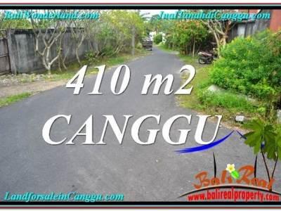JUAL MURAH TANAH di CANGGU 410 m2 Lingkungan Villa