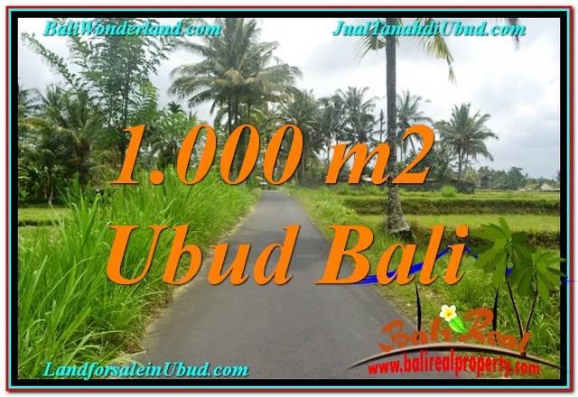 JUAL TANAH MURAH di UBUD 1,000 m2 View Sawah, Link. Villa