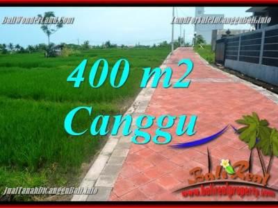 TANAH DIJUAL di CANGGU 4 Are View sawah, lingkungan villa