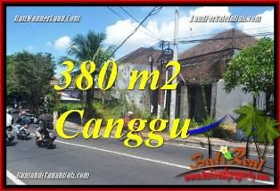 TANAH di CANGGU BALI DIJUAL 380 m2 VIEW SAWAH, LINGKUNGAN VILLA