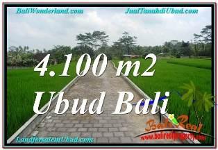 JUAL TANAH MURAH di UBUD 4,100 m2 VIEW SUNGAI, LINGKUNGAN VILLA