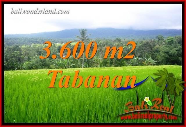 Tanah Murah jual Tabanan 3,600 m2  View Gunung dan Sawah