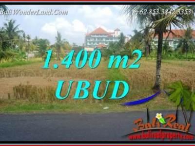 JUAL Murah Tanah di Ubud 1,400 m2 View sawah lingk. Villa