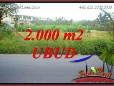 Tanah Murah jual di Ubud Bali 2,000 m2 View sawah lingk. restorant