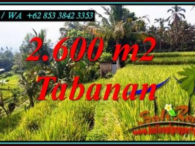 TANAH di TABANAN BALI DIJUAL MURAH 2,600 m2 di PENEBEL TABANAN