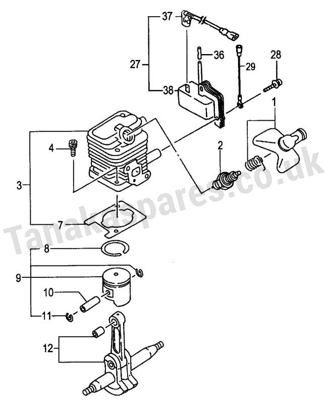 THT-2100 & THT-2100S Models Cylinder/Piston/Crank Shaft