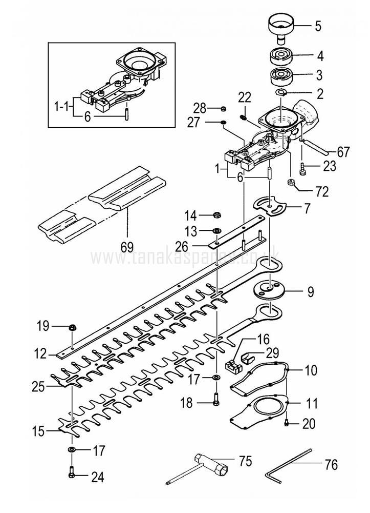 THT-2000L Models GEAR CASE/BLADE(620L)