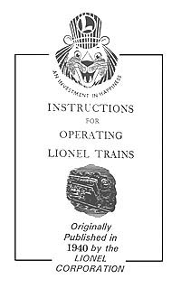 LIONEL INFORMATION BOOKS