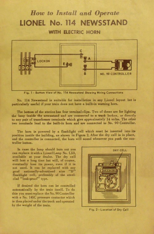 small resolution of no 114 32 instruction sheet front page