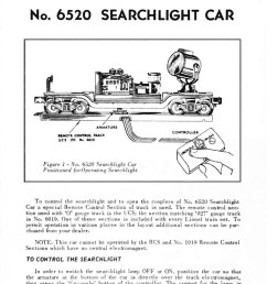 lionel trains 6520 searchlight car on lionel exploded diagrams lionel motor wiring lionel locomotive  [ 779 x 1159 Pixel ]
