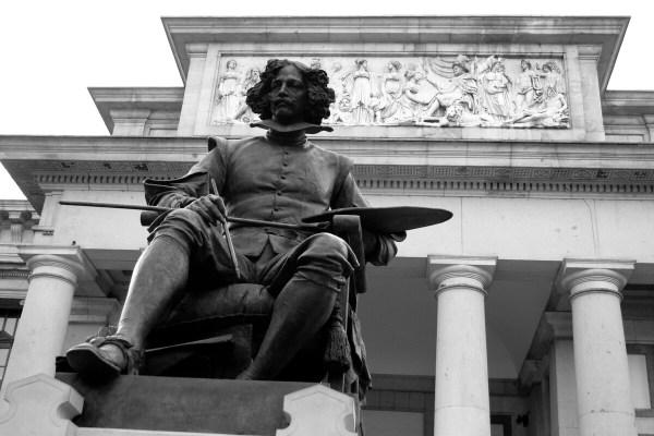 Museo Del Prado Madrid Velazquez Statue - Learn Spanish In Spain Tandem
