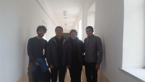 A l'université avec Aziz, manager de UltiAdv et Kudei, l'un des guides.