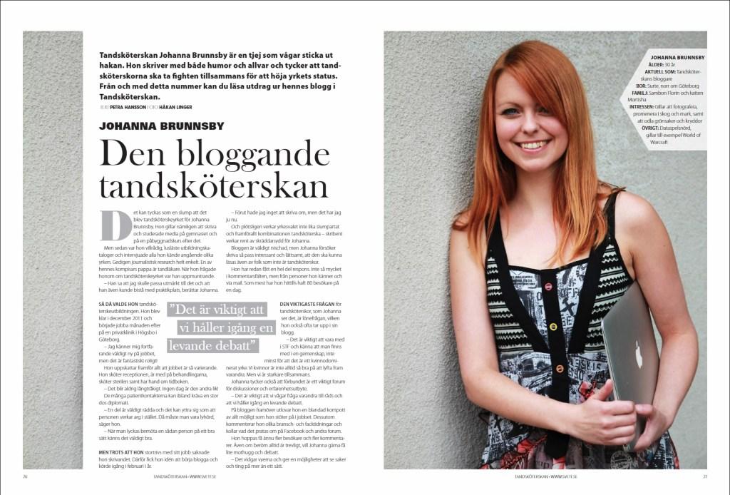 Tidningen Tandsköterskan nr 3 2013.