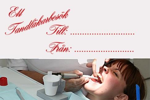 Det är dyrt med tandläkarbesök, ge någon en knuff i rätt riktning!