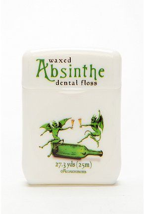 Absinthe dental floss