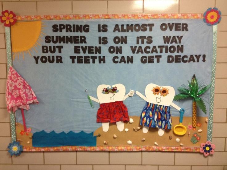 WVU Dental Hygiene bulletin board
