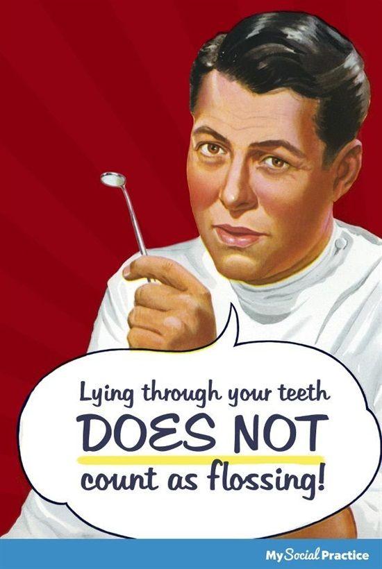 Lying through your teeth