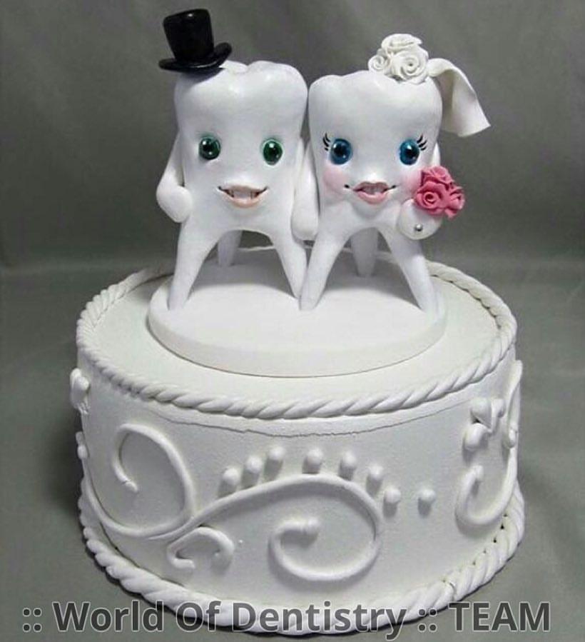 Bröllopstårta med tänder