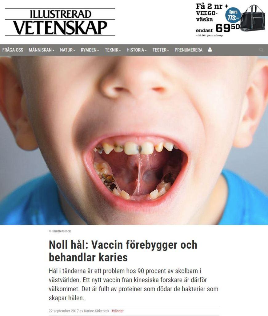 Illustrerad Vetenskap vaccinera bort karies