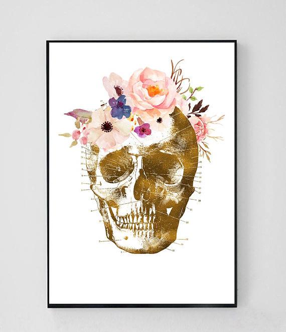 Art print skull