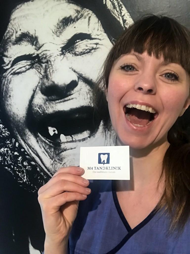 Tandsköterska Johanna Ene på M4 Tandklinik.