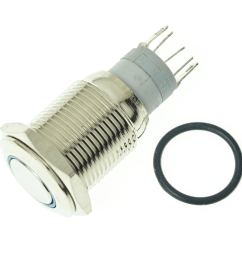 details about adafruit rugged metal pushbutton with blue led ring [ 1200 x 1200 Pixel ]