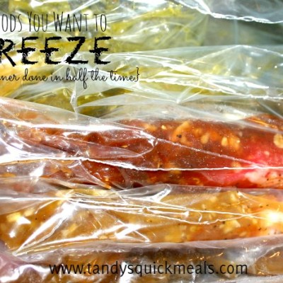 5 Foods You Want to FREEZE {to get meals done in half the time}