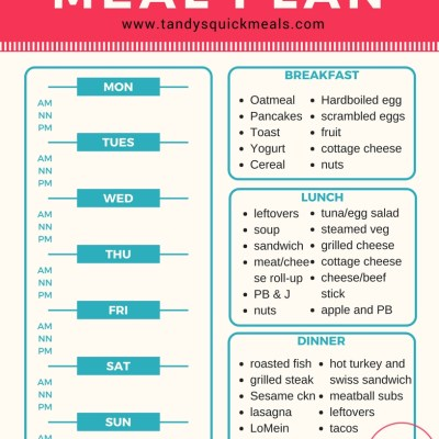 Mix and Match Meal Plan