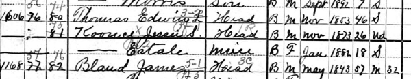 1900 US Census, Washington D.C., District 40, Page 7