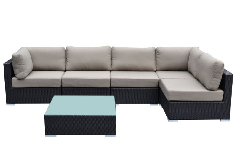 Tanfly TF1504 6pc Outdoor L Shaped Sofa Set