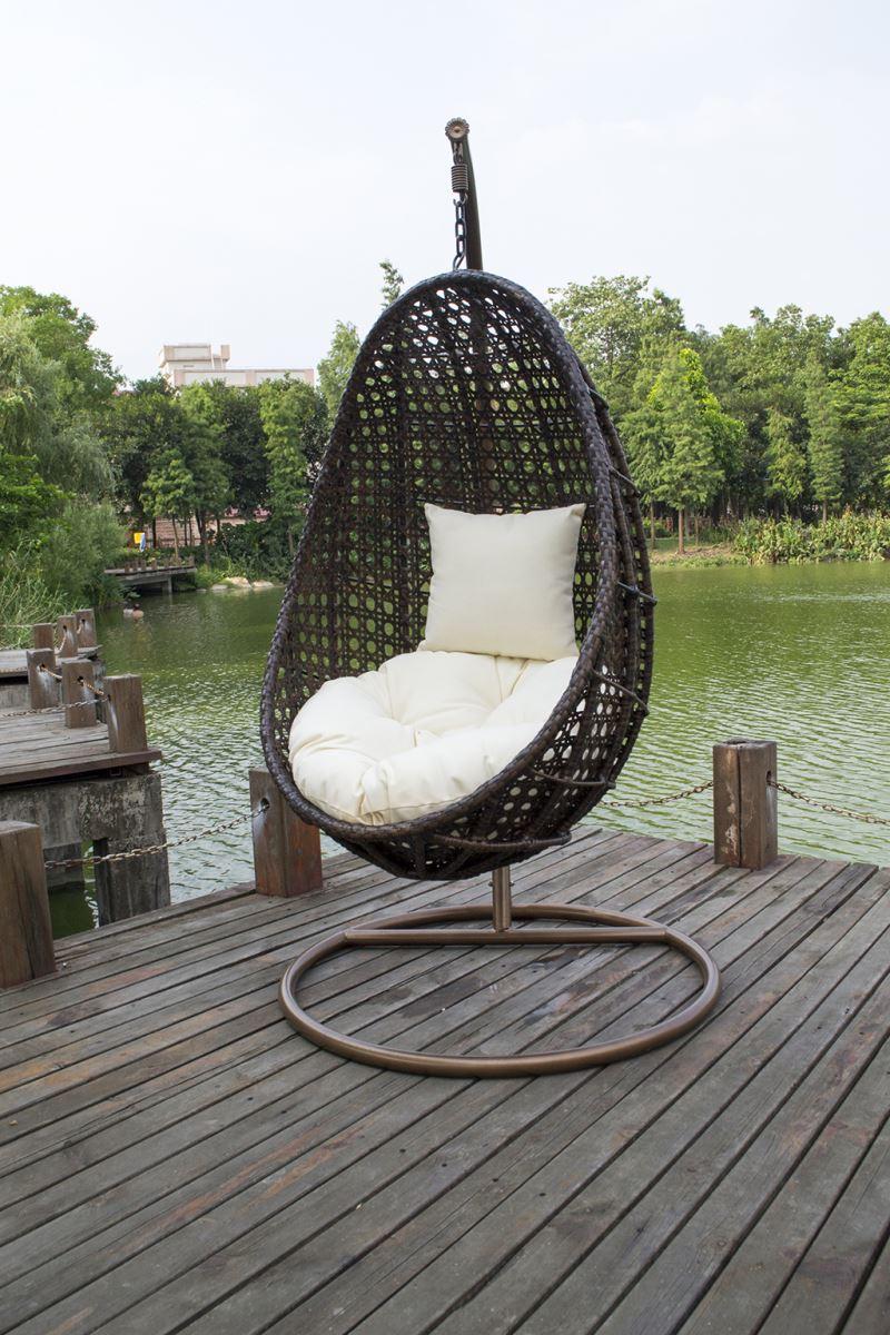 Tanfly TF9721 teardrop swing chair egg shaped swing chair