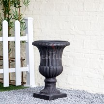 Roman Style Giant Fiberglass Outdoor Furniture Flower Pot