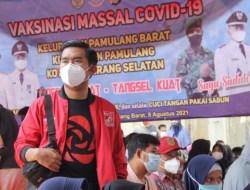 Antusias Warga Besar Untuk Di Vaksin, Ferdi PSI: Pemkot Tangsel Harus Pastikan Ketersediaan Vaksin
