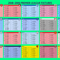 2018/19 Premier League Fixture Wall Post and Calendar Download